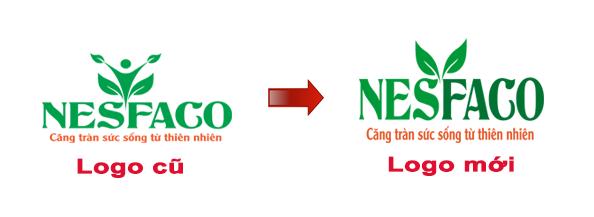 thay đổi logo nhận diện thương hiệu nesfaco
