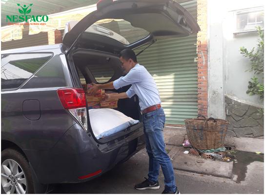 Nesfaco tặng quà cho mái ấm Thiên Ân Quận Tân Phú