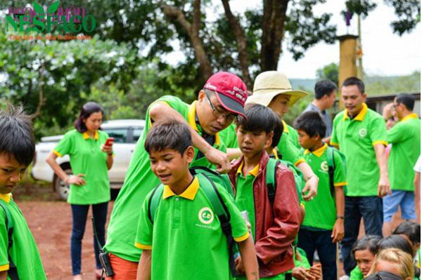 Nesfaco tham gia caravan đồng hành đến trường